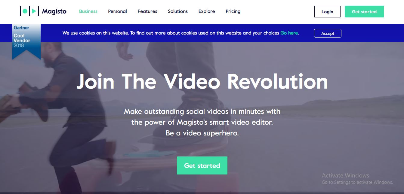 Magisto is a platform for making videos automatically by combining pre-existing videos and photos and deciding between several customization options.